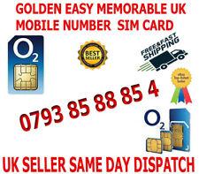 GOLDEN EASY MEMORABLE UK VIP MOBILE PHONE NUMBER 0793 85 88 85 4  PLATINUM SIM