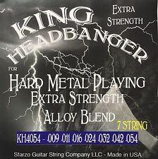 King Headbanger Hard Metal Playing Electric Guitar Strings KH4054 7-string 9-54