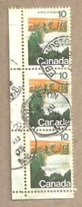 Canada SOCKED-ON-NOSE TOWN CANCEL EDMUNSTON NB TRIPLET SCOTT 594 VF USED BS20269