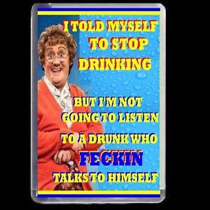 MRS BROWNS BOYS FRIDGE MAGNET ADULT JOKE ACRYLIC NOVELTY GIFT  DRINK