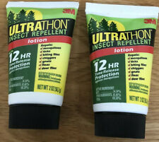 2 x 3M Mosquitoes Sweat Resistant Ultrathon Army Insect Repellent 56.7g/2oz Deet