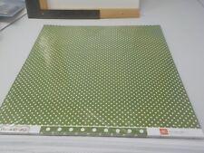 ECHO PARK DOTS & STRIPES LEAF GREEN POLKA DOTS CARDSTOCK 25 SHEETS 12X12 A10139
