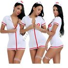Sexy Women Nurse Role Play Costume Lingerie Halloween Cospaly Outfit Fancy Dress
