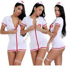 Sexy Women's Nurse Babydoll Cosplay Uniform Sleepwear Cosplay Costume  Nightwear