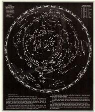 1939 Antique Constellation Map Star Map Vintage Astronomy Zodiac Print 7533