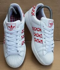 ADIDAS Superstar Pro Shell RARA in Pelle Scamosciata Bianco UK 8