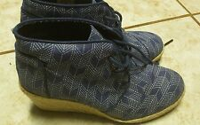 TOMS WOMENS DESERT WEDGE BOOTS SIZE 6