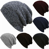 Knit Beanie Hat Winter Unisex Mens Womens Ski Sport Slouch Cap Crochet Oversized