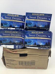 Bigelow Sweet Dreams Herbal Tea Chamomile Mint Caffeine Free 6boxes/120 bags NEW