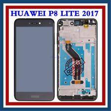 POUR HUAWEI P8 LITE 2017 PRA-LX1 LCD ECRAN VITRE TACTILE + FRAME ASSEMBLÉE NOIR