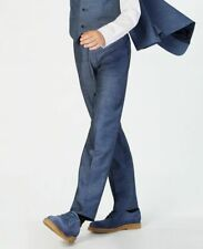 $220 Calvin Klein Big Boys Blue Regular Fit Weave Suit Trousers Pants Size 16