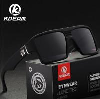 KDEAM Men Sport Polarized Sunglasses Outdoor Driving Fishing Square Glasses Hot