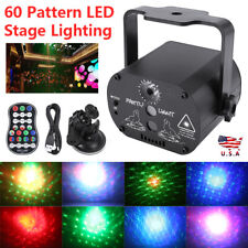 Disco Laser Stage Lighting 60 Patterns RGB LED USB Projector Light Party Decor
