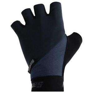 Origine Summer Cycling Gloves Long Wrist by Santini - in Blue -  Made in Italy