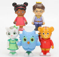 5pcs Daniel Tiger's Neighborhood Friends Action Figure set Toy Cake Topper Owl