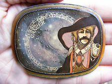 Vtg CANCER Belt Buckle 1976 Astrology PACIFICA Horoscope ART Zodiac RARE VG++