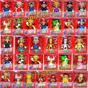 Super Mario Odyssey Luigi Wario Toad Action Figure Kid Cake Topper Toy Figurine