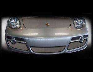 Porsche Cayman S Lower Bumper Mesh Grille Upgrade 3ps kit Black or Chrome 05-08