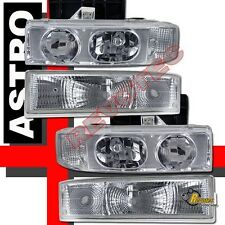 1995-2005 GMC Safari Van Headlights & Bumper Signal Parking Lights