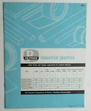Brochure Reference Guide For Polypenco Industrial Plastics 1958