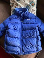 Patagonia Puffy Blue Down Jacket Coat Boys Sz M 10 Super Warm!