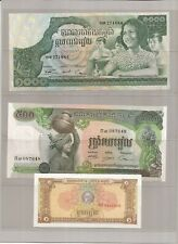FOREIGN CURRENCY-Uncirculated Cambodia (5) Vietnam(1) British Armed Forces(4)