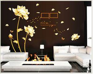 Blüten Schlafzimmer Wohnzimmer Wandtattoo  Schmetterling Blume Farbe 9188