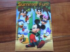"Summer Fun Disney Movie Club 3D Lenticular Collector's Mickey & The Gang 5"" x 7"""