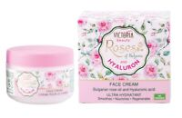 Victoria Beauty Face Cream with Rose Oil & Hyaluronic Acid Hydrates Nourish 50ml