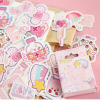 46PCS/Box Cute Decals Kawaii DIY Scrapbooking Diary Paper Stickers Stationery