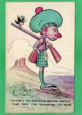 More details for scottish  comic humour shooting hunting  hand painted j e tasker 1910  pc  ak42