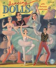 Vintage Uncut 1954 Dancing Dolls Paper Dolls ~Hd Laser Reproduction~Lo Pr~Hi