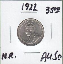 1922 Canada 5 Cents Coin - Near Rim - AU-50