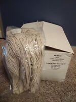Universal Premium Cut-End Wet Mop Heads, Cotton, 16oz, White - 12 Count Carton