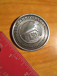 2013 Metal CHIPOTLE Mexican Grill COIN/TOKEN 20th Anniversary Burrito Gift Card