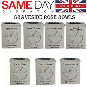Graveside Rose Bowl Memorial Vase Flower Pots Grave Ornament Various Relatives
