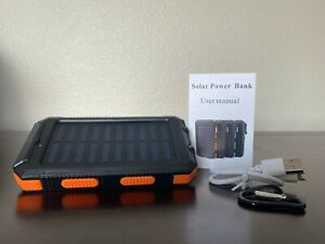 2021 Super USB Portable Charger Solar Power Bank For Cell Phone iPhone & Android