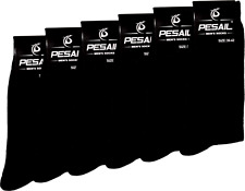 6 Pairs of Men's  Rich Plain Cotton Socks Black Size 6-8 (39-42) UK