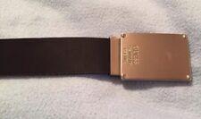 GUESS Black / Brown Reversible Belt W/ Metal Buckle Size 40