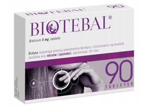 Biotebal 90 Tabletten Haar Wachstum Gegen Haarausfall Sprödigkeit 5mg