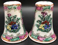 FAMILLE ROSE China Hand-Painted Porcelain Salt Pepper Shakers; Hong Kong (RF972)