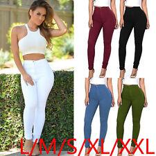 Women High Waist Skinny Jeggings Pencil Pants Slim Stretch Denim Jeans Trousers