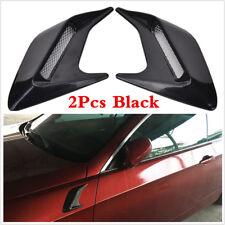 2Pcs Black Car Wing Body Side Vent Trim Fender Cover Duct Flow Grille Sticker