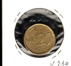 R20 CENT FAUTEE ALLEMAGNE 2002*D*DECENTRE+ROUE DE WAGON VOIR PHOTO AVANT ACHETER