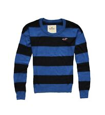 NEW HOLLISTER WOMEN'S PREPPY STRIPE CLASSIC FIT CREW PULLOVER SWEATER KNIT TOP S