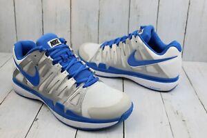 Nike Roger Federer ZOOM VAPOR 9 TOUR White/Blue Tennis Shoes 488000-140 Sz 11