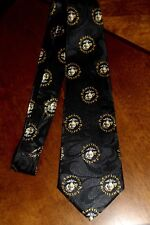 The United States Marine Corps On A Brand New Black 100% Polyester Neck Tie! 1