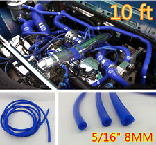 "5/16"" 8MM ID BLUE VACUUM SILICONE TURBO AIR HOSE LINE PIPE TUBE 10 FOOT FEET"