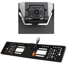 Kennzeichenhalterung Rückfahrkamera Nachtsicht IR LED Nummernschild Cinch NTSC