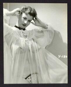 Cherrie Knight Sheer Nightie 1940s Polka Dot Lingerie Vintage Photo Pinup Q1827